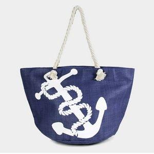Nautical Print Beach Bag